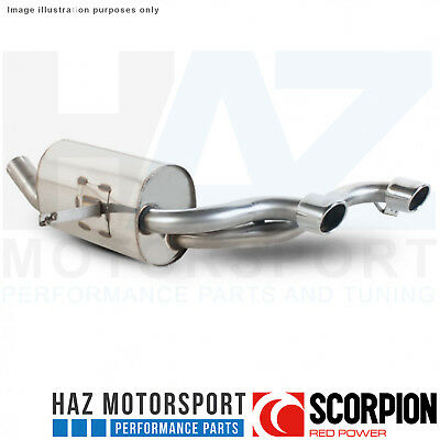 "Renault Megane RS225 04- Scorpion 2.5"" Rear Silencer Exhaust Polished Monaco Tip"