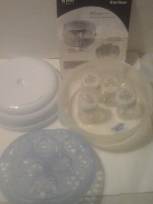 PHILIPS AVENT NATURAL BOTTLES  SET 4 bottle Newborn Infant Feeding Baby,preowned