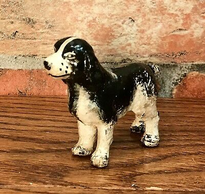 Cast Iron Miniature SPRINGER SPANIEL Collectible Dog Figurine Paperweight