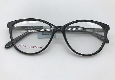 f2274044247 Betsey Johnson Kewl Authentic Designer Eyeglasses Frame 53-15-140 Black  Glasses