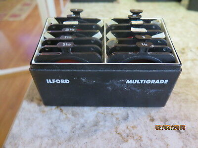 ILFORD Multigrade Filter Kit 12 MG Below Lens Set Vintage Used Made in England