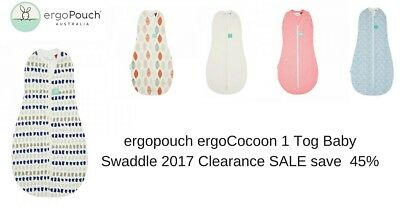 ergoPouch ergoCocoon 1 TOG Baby Swaddle 2017 clearance SALE 0 - 3 mths