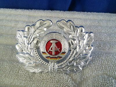 East German DDR Army, Police Hat Insignia Badge (NOS)