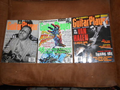 "Lot Of 3 ""guitar Player"" Magazine~March & April '94~March 1995"