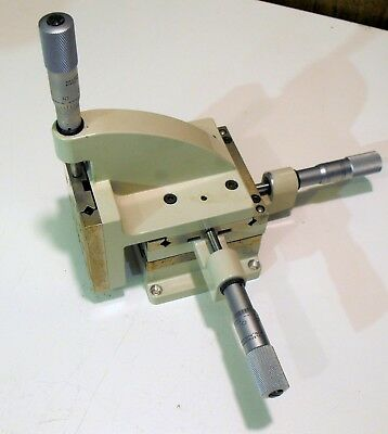 LINE TOOL XYZ LINEAR MOTION STAGE MICROPOSITIONER Translation Stage Model H