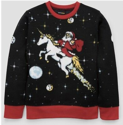 NEW Fifth Sun Ugly Christmas Sweaters Toddlers Santa Holiday Unicorn Unisex XS