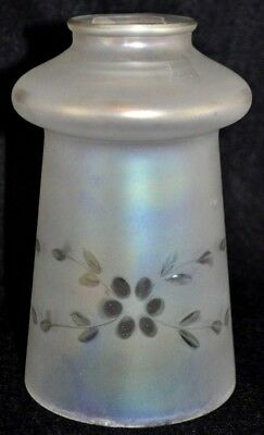 Antique Vintage Art Nouveau Lamp Light Frosted Etched Opalescent Glass Shade 2""