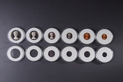 Acrylic coin capsule, 3 pieces, 31mm for round 50 Cent Coins
