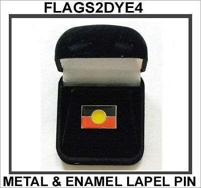Aboriginal flag quality lapel pin badge for hat shirt gift boxed + FREE Gifts