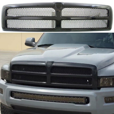 Front Hood Grille For 1998 1999 2000 2001 2002 Dodge Ram 1500 2500 3500 Truck