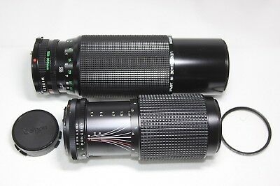 Canon New FD Zoom 100-300mm F5.6 & Tokina RMC 70-210mm F4 for FD