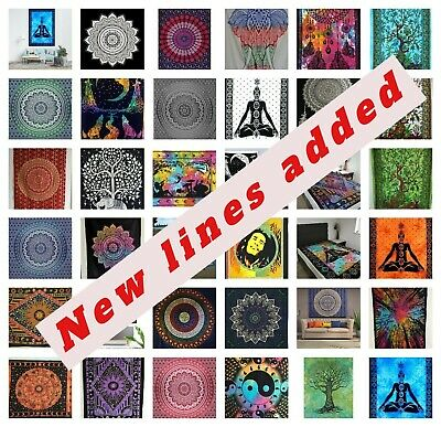 Indian Wall Hanging Large Tapestry Bohemian Hippie Mandala Bedspread Yoga Throw