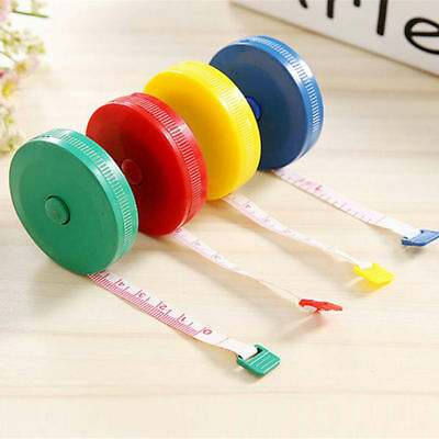 "5X Portable Retractable Body Measuring Ruler Sewing Cloth Tailor Tape 60"" 1.5M"