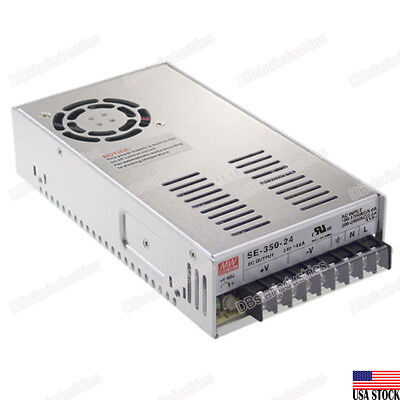 MEAN WELL SE-350-24 350W Switching Power Supply UL-Certified 24V/DC 14.6A LED US