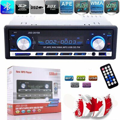 Car Stereo Radio Bluetooth In-dash Head Unit Player FM MP3/USB/SD/AUX JSD Canada