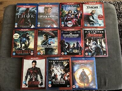 Marvel 3D Blu-ray Collection - 11 Films Total with 3D Rare Slip Covers