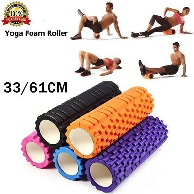 33/60CM Foam Roller Grid EVA Physio Pilates Yoga Gym Exercise Trigger Point Home
