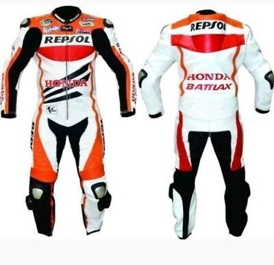 HONDA REPSOL Motogp MOTORBIKE LEATHER RACING  SUIT - CE APPROVED FULL PROTECTION
