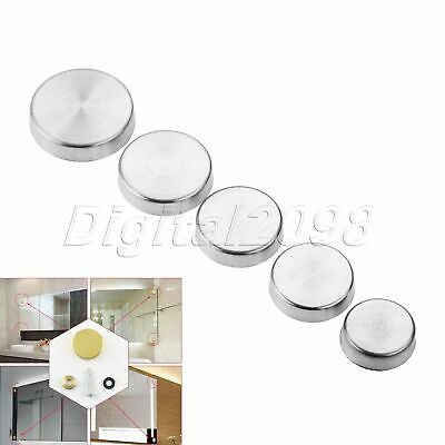 20pcs Silver Mirror Nails Advertisement Decorative Stainless Steel Screw Caps