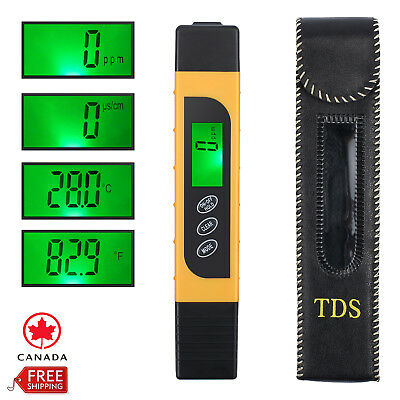 3 in 1 Digital TDS EC Water Quality Tester Purity Meter TEMP PPM Test Filter Pen