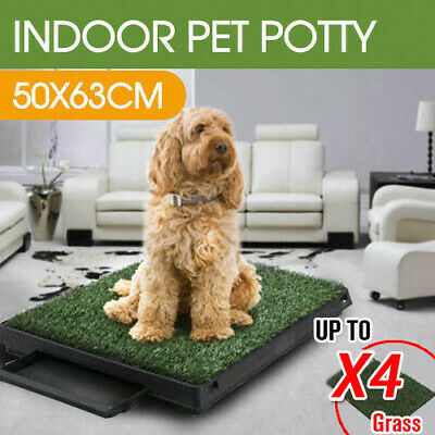 Dog Toilet Pet Training Tray Indoor Portable 1/2/4 Grass Mat Large Loo Potty