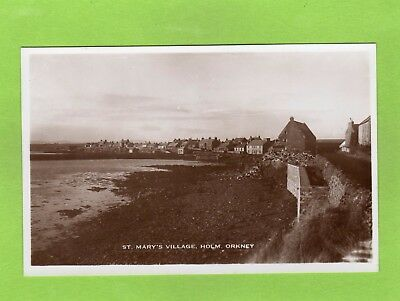 St Mary's Village Holm Orkney RP pc unused Ref E451