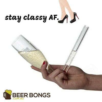Chambong Glass Twin Pack | Stay Classy AF! By Beer Bongs Australia™