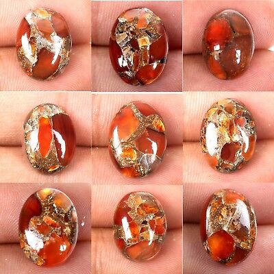 CARNELIAN COPPER MOHAVE Cabochon Gemstone 1 Pcs Choose From Variation 16x12 mm
