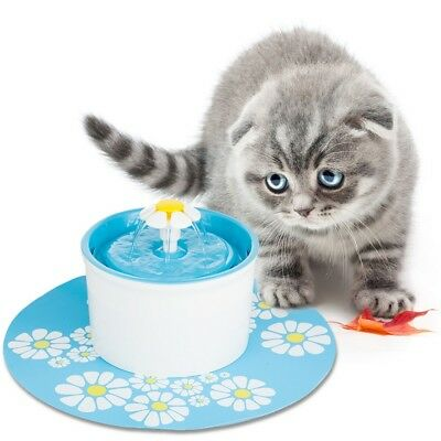 1.6L Pet Drinking Fountain Flower Water Fountain Cat Pet Drinking Bowl Green AU