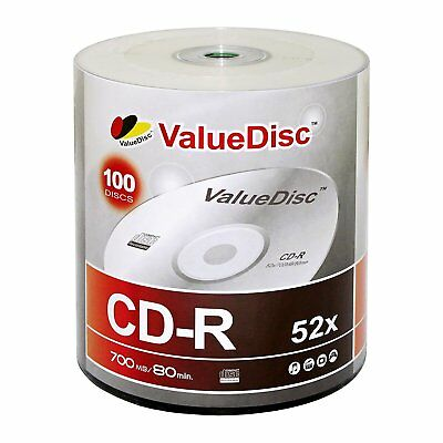 100 Pack Value Disc Logo Top 52X 700MB CD-R