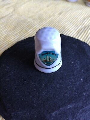 connecticut state souvenir collectible lpco thimble