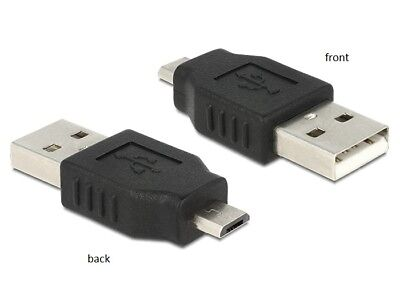 Delock Adapter USB micro B male to USB 2.0 A male nickel-plated black