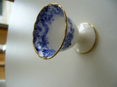 Vintage Minton Blue And White Egg Cup Gold  Rim   60Mm H, 55Mm Dia