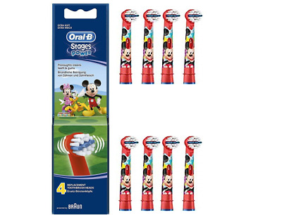 Oral-B Stages Power Mickey Mouse Replacement Electric Toothbrush Heads Pack 4