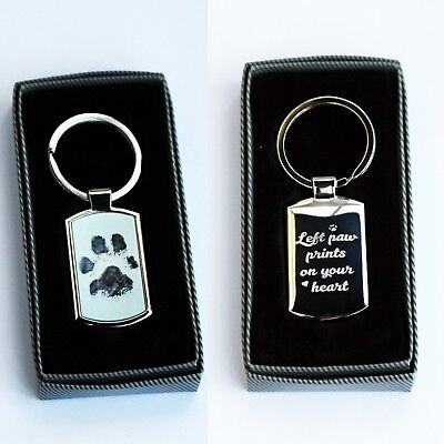 Personalised Custom Metal Keyring Photo Printed & Engraving on back Free Giftbox