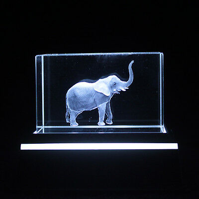 Elephant 3D SAFARI LOVER LASER ENGRAVED IMAGE BOXED BIRTHDAY PRESENT GIFT Idea