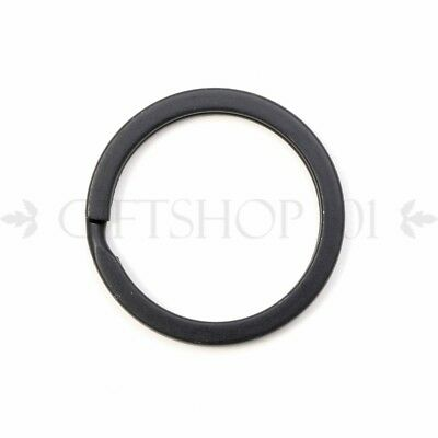 10x Black Metal Round Split Ring Keyring Jewelry Findings 22mm Double Jump Ring