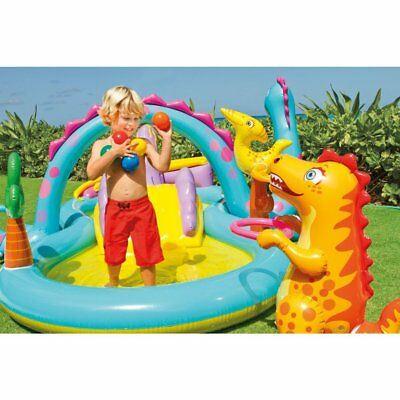 """Intex Dinoland Inflatable Play Center, 131"""" X 90"""" X 44"""", for Ages 2+"""