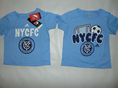 2 Pack NEW YORK CITY FC ADIDAS BLUE FOOTBALL GO TO T Tee Shirt Set 3T 3 T NEW *