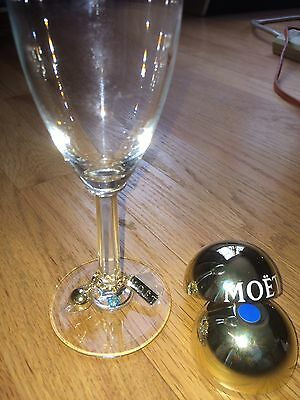 (L@@K) MOET Champagne Glass Identifier Charms NIB Novelty Party Cocktails Wine