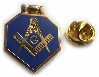 Masonic HINGE FLIP Trowel Slipper Gavel Tools Euclids Problem Tie Tack Lapel Pin