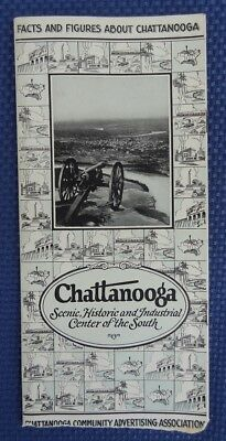 Old 1920's ? CHATTANOOGA TN Facts & Figures Travel Guide - Scenic Historic Pic