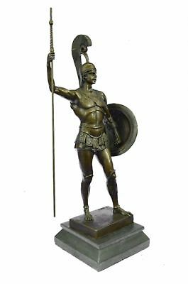 Bronze figurine of the Greek hero Achilles holding a spear Hand Made Décor Gift