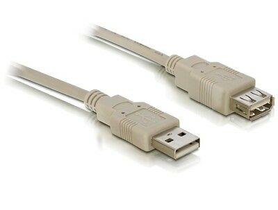 Delock Cable USB 2.0 extension A/A 3m / extend a USB connection / free p&p /grey