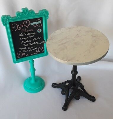 American Girl Doll Grace Thomas BISTRO SET Table & Chalkboard Menu only RETIRED