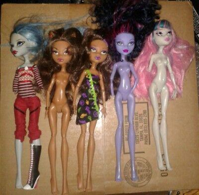 Monster High Doll Lot OOAK Nude Bait Ghoulia Yelps Signature Core