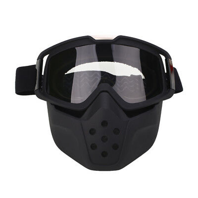 Motorcycle Face Dustproof Guard Mask Shield Detachable Goggles Mouth Filter