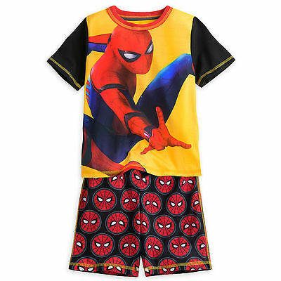 NEW WITH TAGS Disney Store SPIDER-MAN SHORT SLEEP SET  3 or 4 or 5/6 or 7/8