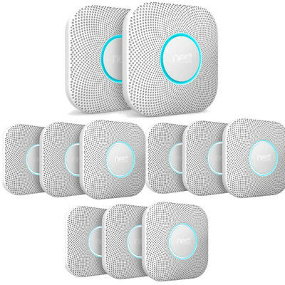 11 Pack Nest Protect Wired Smoke & Carbon Monoxide Detector Alarm CO S3005PWLUS