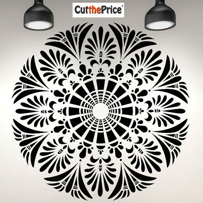 A5 A4 A3 Reusable Thick Craft Stencil Airbrush Painting Craft Mandala 019